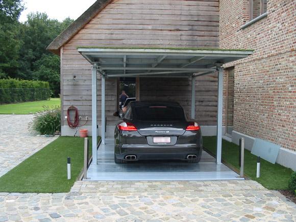 Monte voiture en residence priv e avec to t syst mes de for Garage mobile per auto